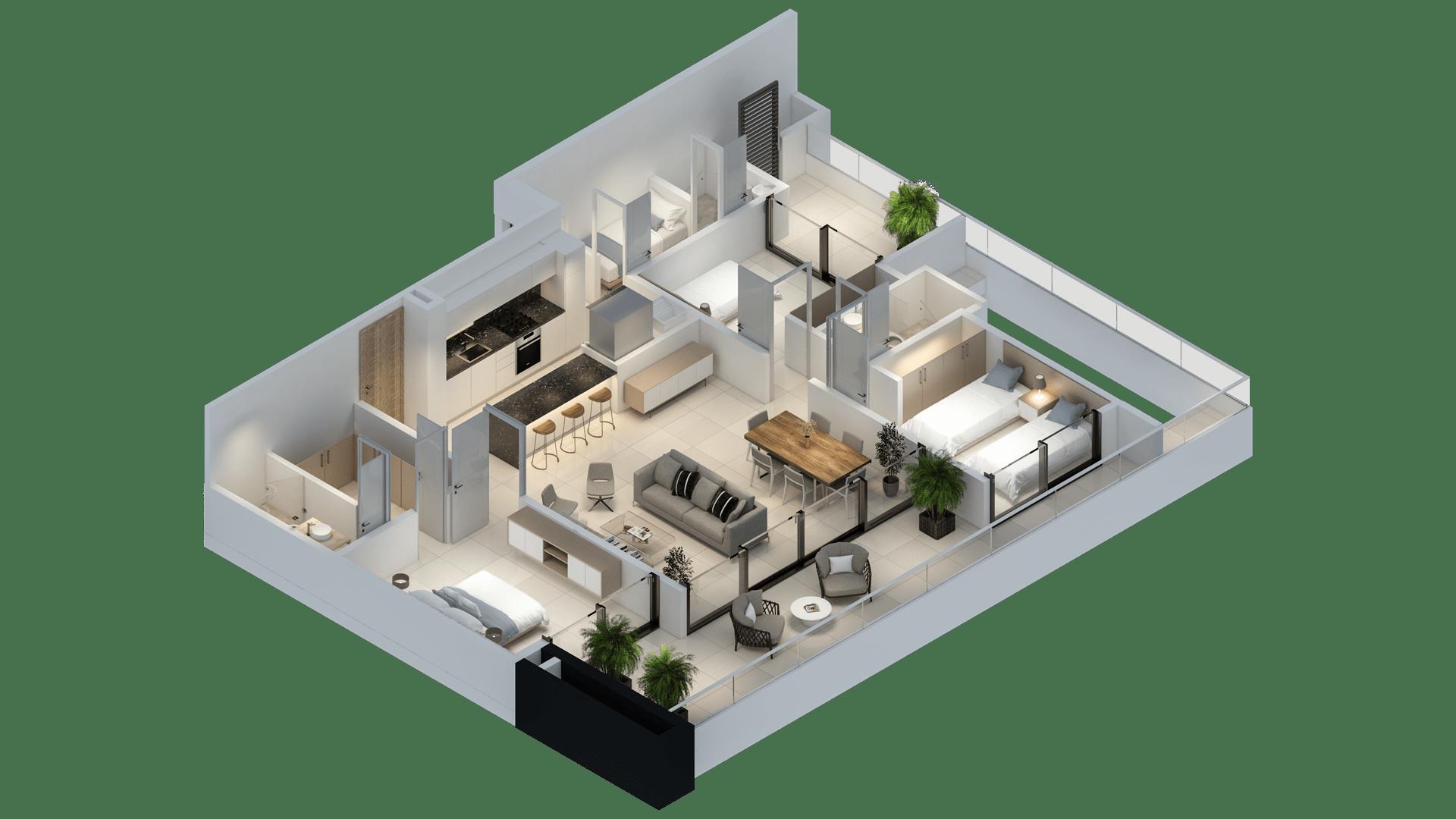 Apartamento 144 3D