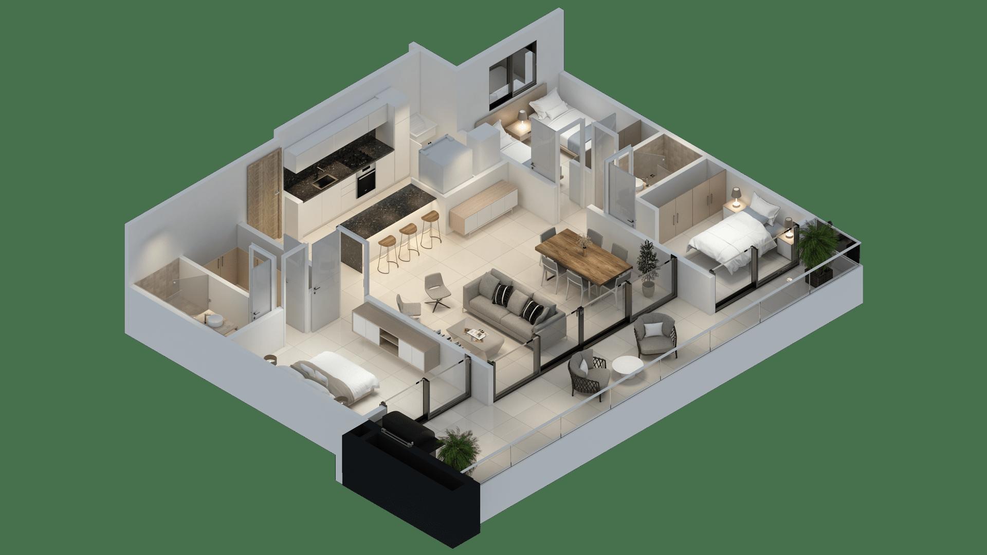 Apartamento 128 3D